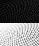 3D Sphere Background Pattern 1. 3D rendering of spheres with depth blur. Two versions, black and white, in the same file. Part of a 3 image series. Wider angle Stock Image