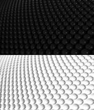 3D Sphere Background Pattern 2. 3D rendering of spheres with depth blur. Two versions, black and white, in the same file. Part of a 3 image series. Wider angle Stock Image
