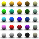 3D Sphere Blank Collection Royalty Free Stock Image