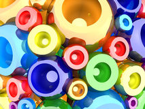 Your wish accomplishment. 3D image of reflective multicolored spheres. How to accomplish your wish Stock Image