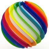 3d sphere with color stripes Stock Images