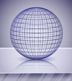 3d sphere over shiny background Stock Image