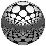 3D SPHERE WITH REFLECTIONS. Abstract isolated 3d ball in white background Royalty Free Stock Photos