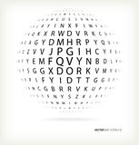 3D sphere of text Stock Photography