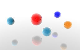 3D spheres Royalty Free Stock Images