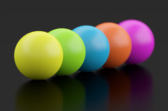 3d Spheres. On Black Background Royalty Free Stock Photos
