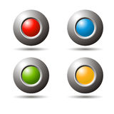 3d spheres. Set 3d spheres in colors for web site Royalty Free Stock Images