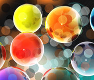 3D spheres Royalty Free Stock Photos