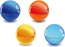 3d spheres. 3d Color vector spheres with color shadows Stock Photography
