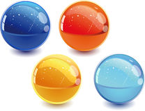 3d spheres. 3d Color vector spheres with color shadows Royalty Free Stock Photos