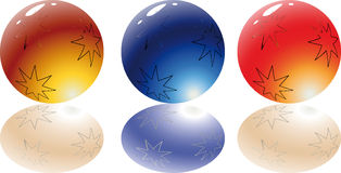 3d spheres. 3d Color vector spheres with color shadows Royalty Free Stock Image