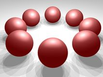 3D spheres. Together light and shadows Stock Photos