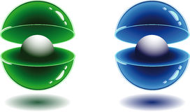 3d spheres. 3d Color vector spheres with color shadows Stock Images
