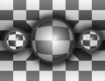 3d spheres tre Arkivfoto