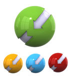 3D spherical designs Stock Photo