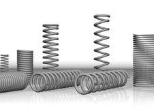 3d spiraal, de lente Royalty-vrije Stock Afbeelding