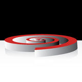 3D spiral arrow Stock Photo