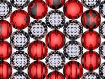 3D spiral balls Stock Image