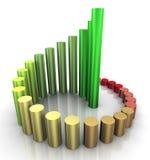 3d spiral progress bars. 3d illustration of spiral circular progress growth bars Stock Images