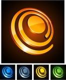 3d spirals vibrerande stock illustrationer
