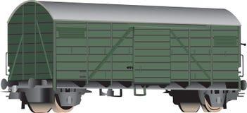3D spoorweggesloten goederenwagen Stock Foto's