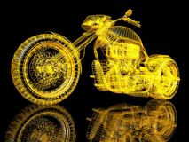 3d sport bike. On black background with a reflection Royalty Free Stock Image