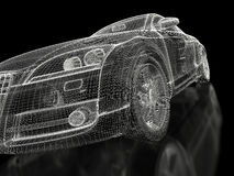 3d sport car Royalty Free Stock Photography