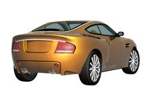 3d sport car. 3d render of the sport car Stock Photo