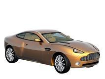 3d sport car. 3d render of the sport car Stock Photography