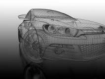3d sportwagen vector illustratie