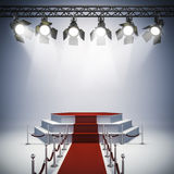 3d spot lights and stage setup Royalty Free Stock Photography