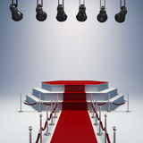 3d spot lights and stage setup Stock Photos