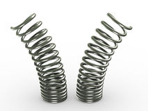 3d springs Royalty Free Stock Photography