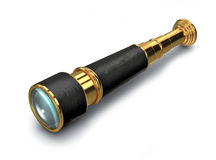 3D spyglass royalty free stock photos