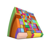 3d square curved shapes in rainbow color Royalty Free Stock Photography