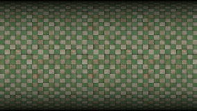 3d Square Mosaic Tiled Metal Rusty Grunge Pattern stock video