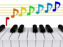 3d staaf en piano Stock Fotografie