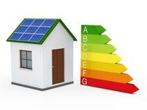 3d staaf van de huis zonne-energie vector illustratie