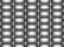3d stacked glossy pipes in silver chrome Stock Photo