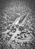 3D stad Stock Fotografie