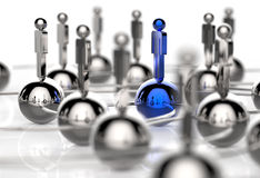 3d Stainless Human Social Network And Leadership Stock Images
