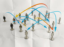 3d Stainless Human Social Network And Leadership Royalty Free Stock Photography