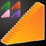 3D Staircase. An image of a 3D staircase Stock Images