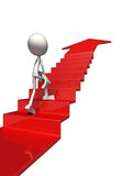 3D staircase to success Royalty Free Stock Photos