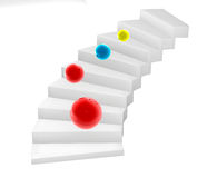 3D stairs. Steps illustraion render Stock Image