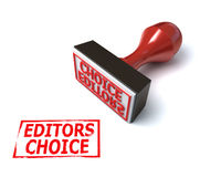 3d stamp editors choice. On the white background Stock Images