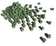 3d stapel van kubiek correct systeemwoofer Stock Afbeelding