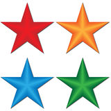 3d star. On a white background, a  illustration Stock Photography