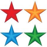 3d star. On a white background, a illustration stock illustration