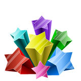 3D star burst Royalty Free Stock Images